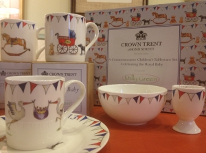 Crown Trent Royal Baby China designed by Milly Green and imported from the UK!